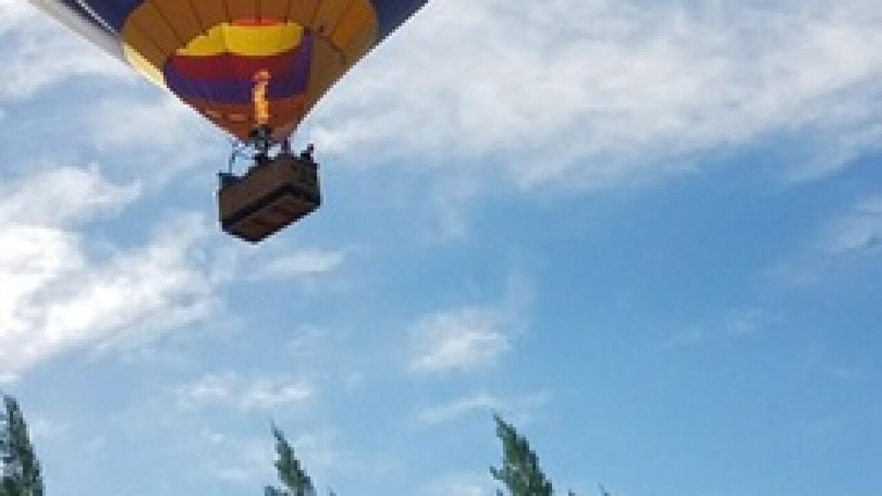 Hot air balloon's proximity concerns homeowner