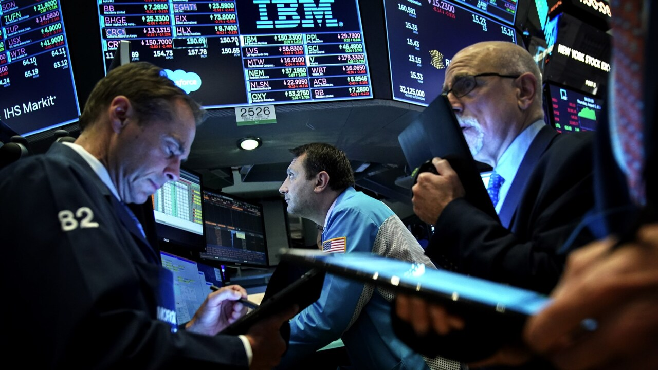 Traders work ahead of the closing bell on the floor of the New York Stock Exchange on Aug. 1, 2019. Drew Angerer / Getty Images
