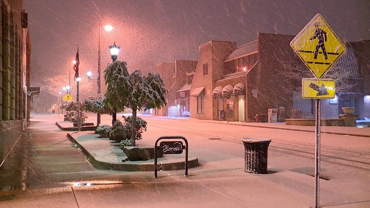 snow in berea