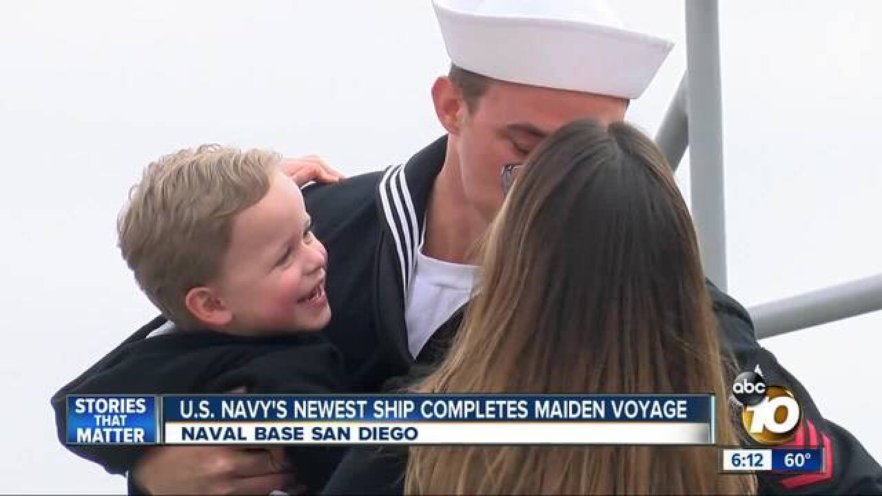 Navy ship arrives in San Diego for first time