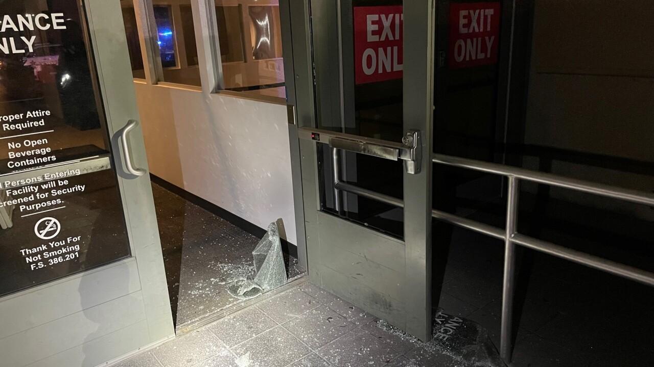 Vandalism to Pinellas Justice Center.jpg