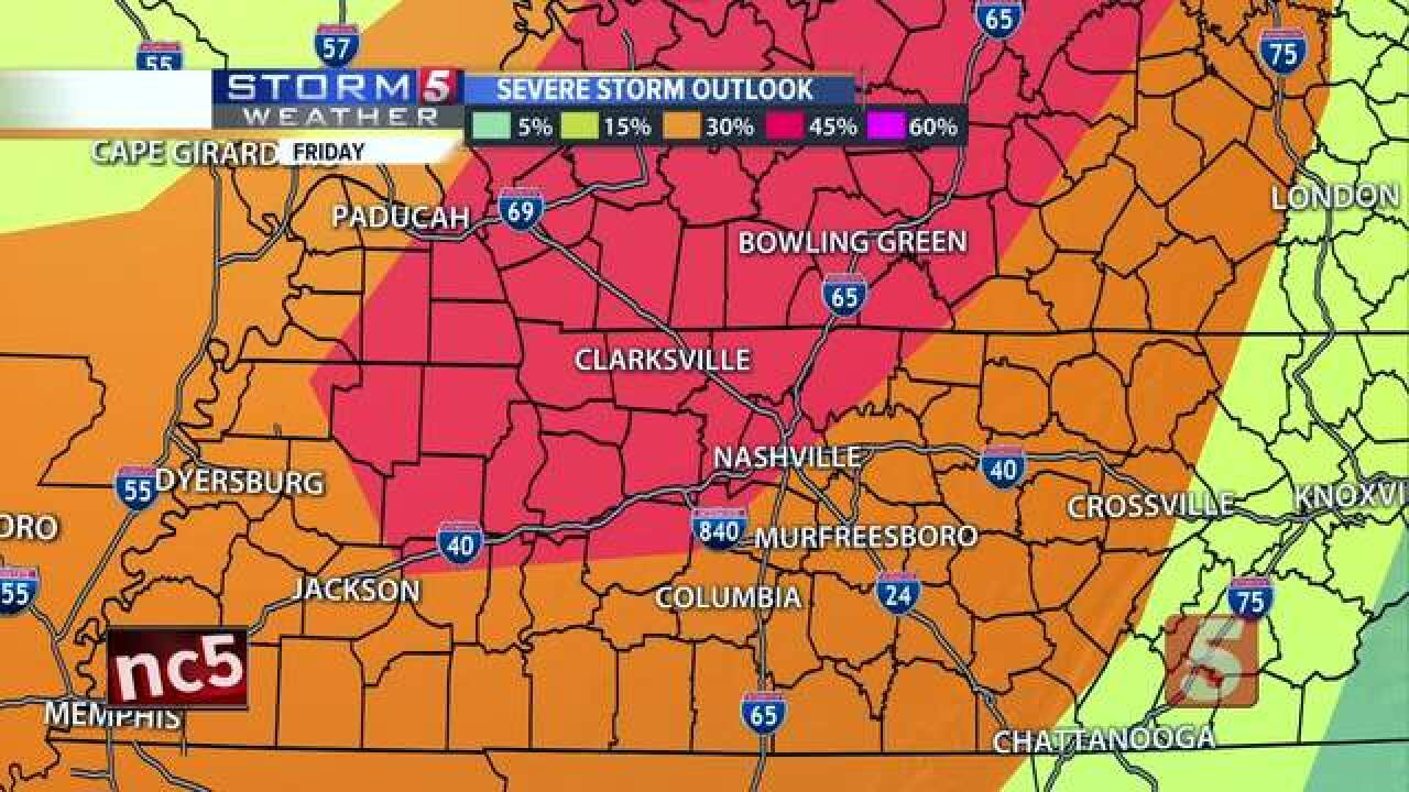 Storm 5 Alert Issued For Friday Ahead Of Severe Storms
