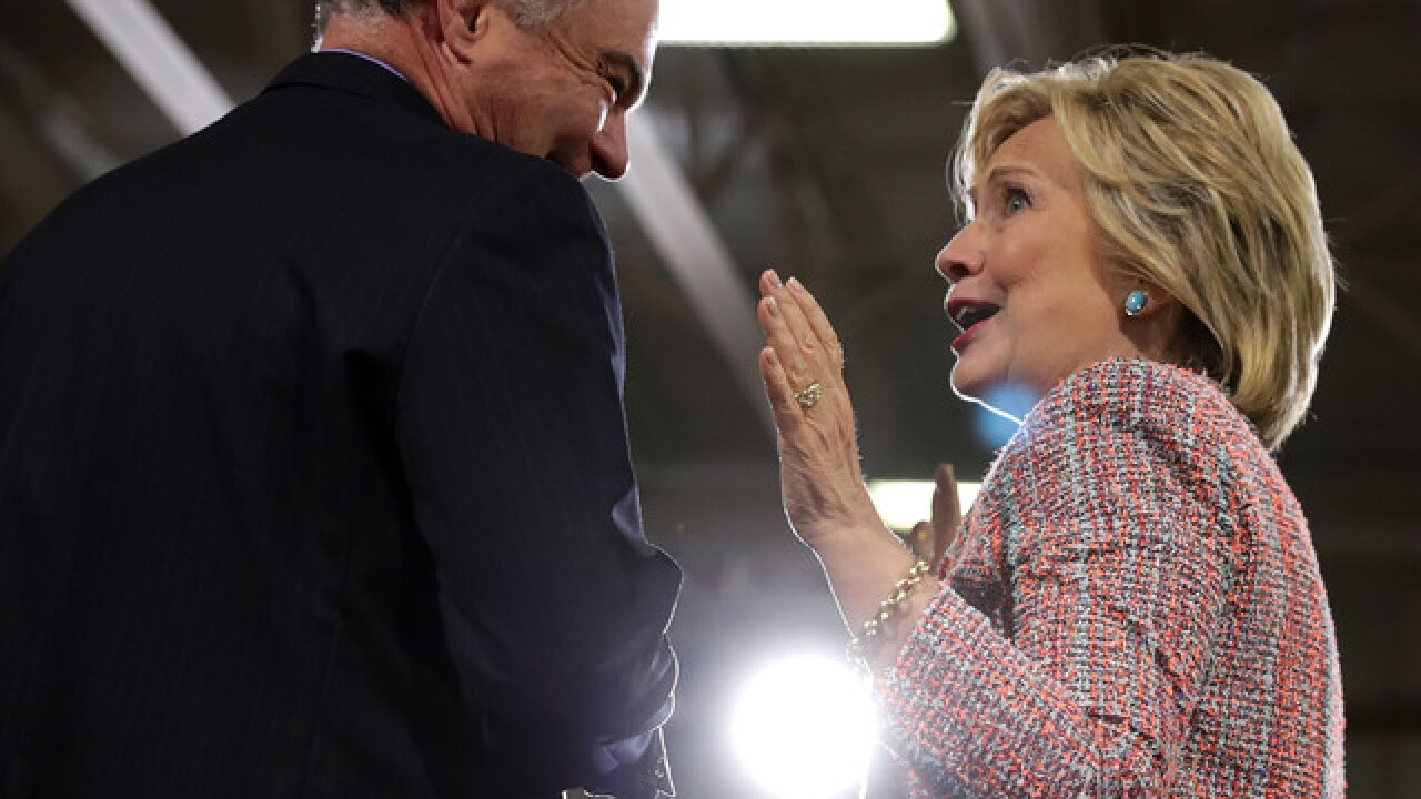 Clinton chooses Sen. Kaine as runing mate