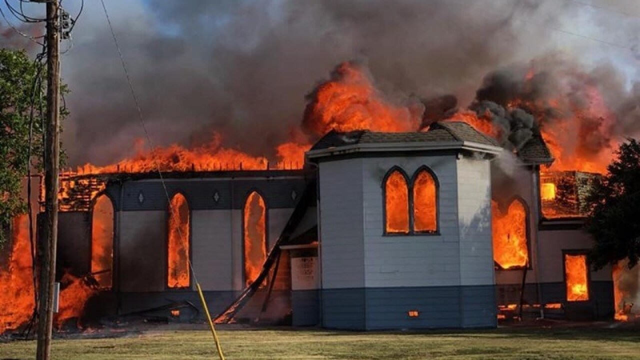 134-year-old Texas church destroyed in fire