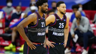 Joel Embiid Ben Simmons Nets 76ers Basketball