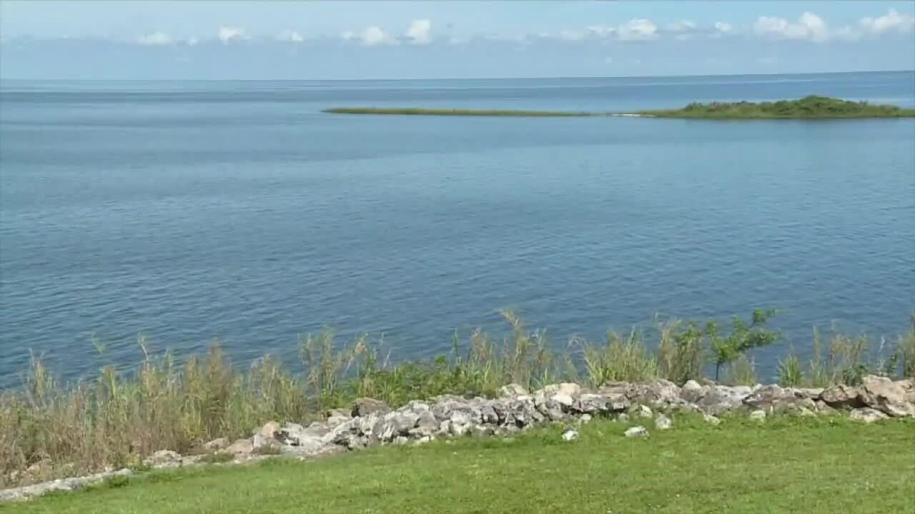 Lake Okeechobee, view from Okeechobee County, June 18, 2021