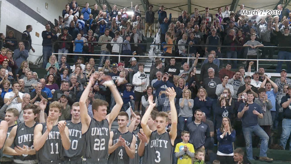 Unity Christian celebrates the win over Benton Harbor