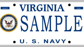 Proposed Navy license plate