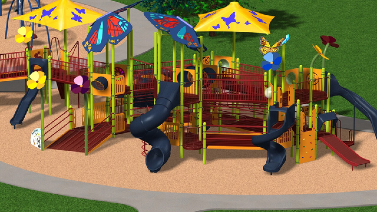 Fun together: Mason closer to building a playground that's inviting for children of all abilities