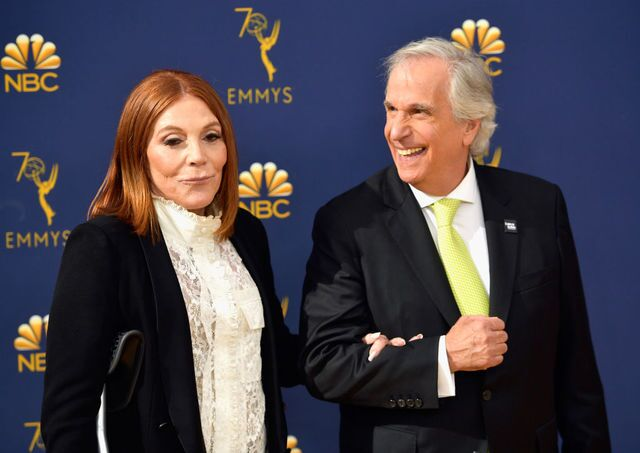 The stars of television walk the gold carpet before the Emmy's