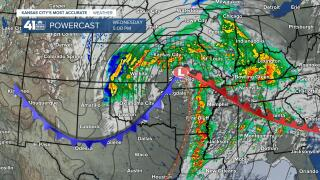 Surface Forecast 5 PM Wednesday