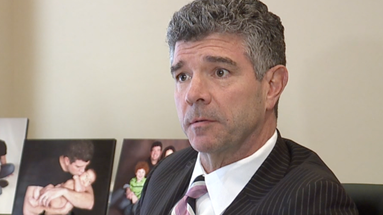 Greater Cincinnati-based defense attorney Steven Adams, pictured during an interview with WCPO, February 2020.