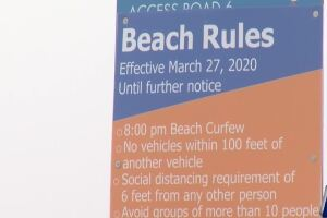 Local law enforcement enforcing new beach rules