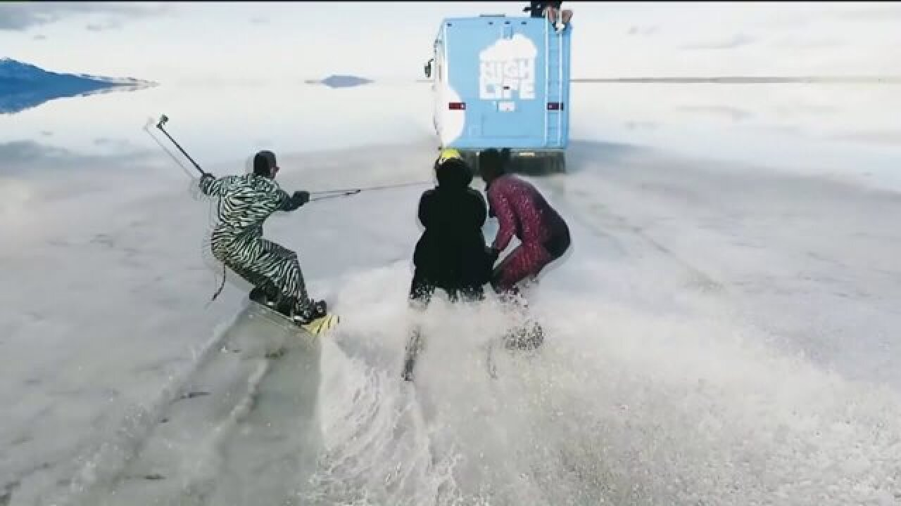 BLM to investigate 'High on Life' group's water skiing stunt on Salt Flats