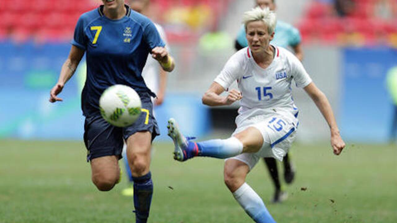 Soccer: US women ousted by Sweden after penalty kicks