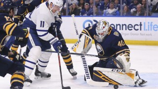 CORRECTION Maple Leafs Sabres Hockey