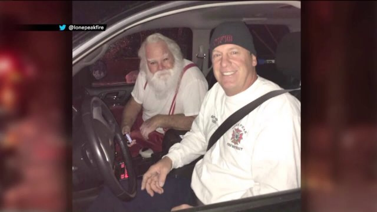 Fire department saves Christmas after Santa's car goes up in flames