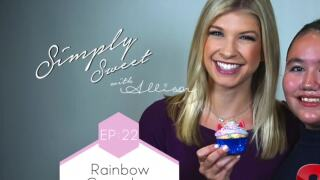 Rainbow Unicorn Cupcakes, with one of Kern Co. best kid bakers