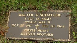 Staff Sgt. Walter Schaller's headstone