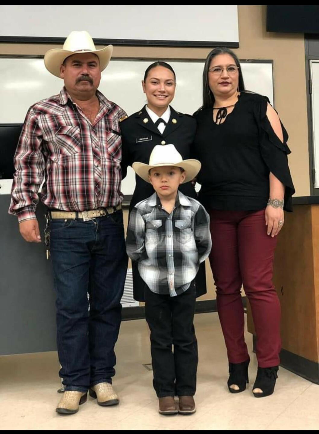 Lt. Reyna And Family