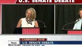 Deb Fischer, Jane Raybould address taxes at U.S. Senate debate