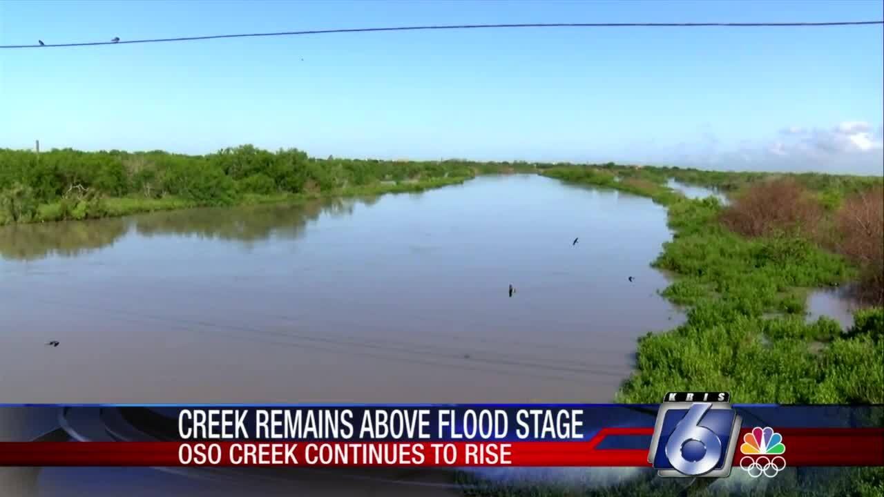 Oso Creek slowly dropping