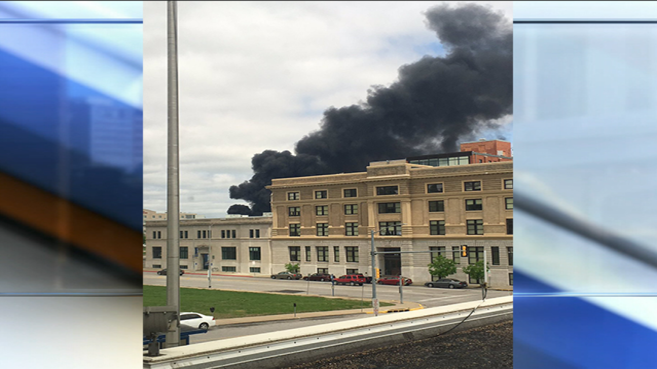 Crews battling large warehouse fire in KCK