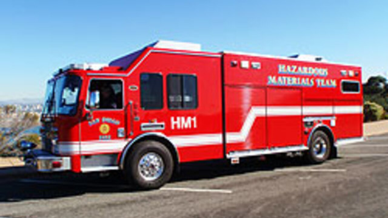 Fire department investigates possible hazmat situation in Rancho Peñasquitos