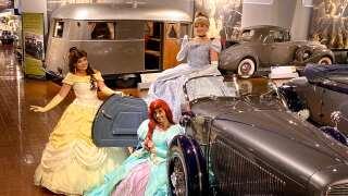 Beauty Princess, Cinderella and Mermaid Princess with 1934 Auburn Boattail Speedster-min.jpg
