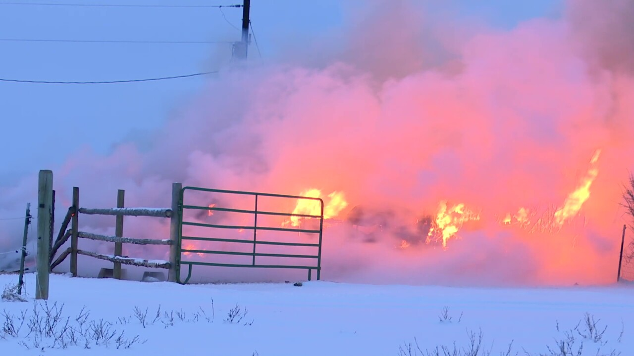 Butte firefighters battle fires and sub-zero temperatures