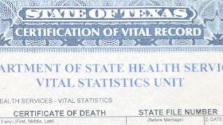 Death certificate backlog
