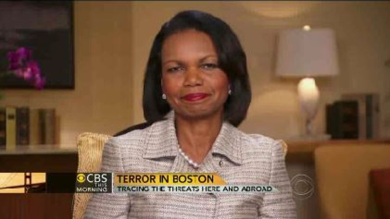 Condoleezza Rice goes 'inside' White House after Boston bombing