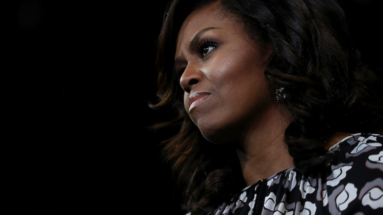 Michelle Obama says goodbye to the White House