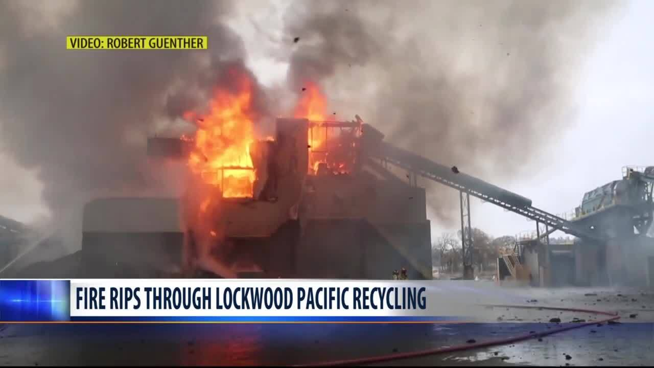 Fire causes heavy damage at Pacific Steel & Recycling in Lockwood