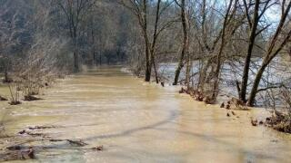 Flooding along the Ohio & Erie Canal Towpath Trail.