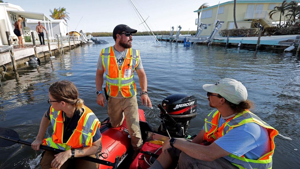 Florida Keys Remain Without Basic Utilities After Direct Hit From Hurricane Irma