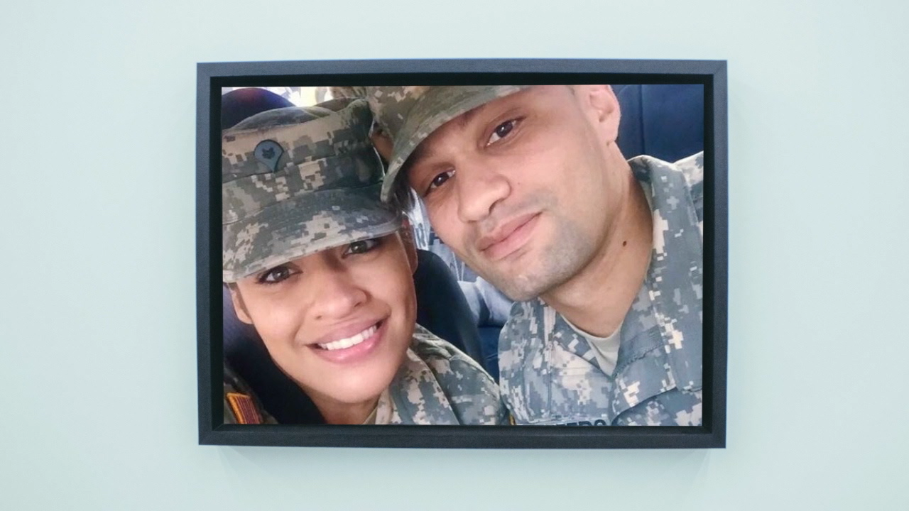 Tyrone and Alicia Desheers in the Army