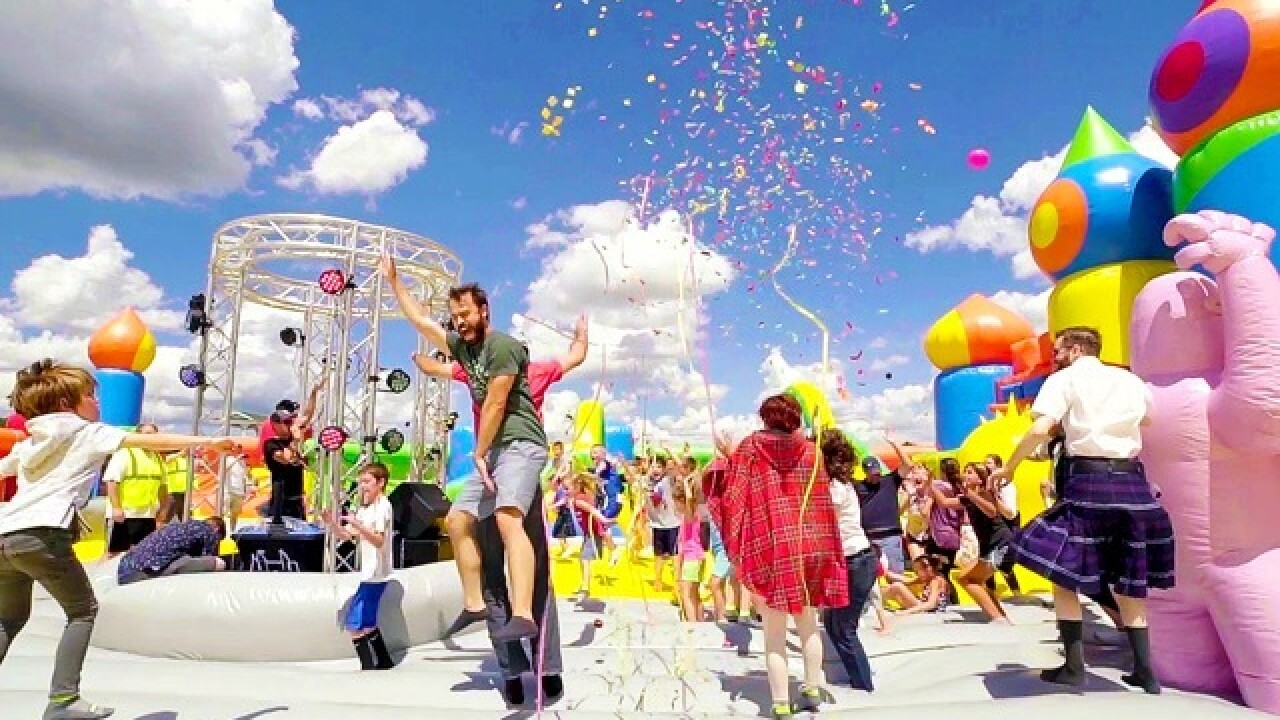 World's largest bounce house returns
