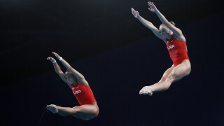Parratto and Schnell land first U.S. medals in women's synchro platform diving