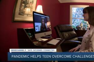 COVID-19 restrictions help teen overcome challenges