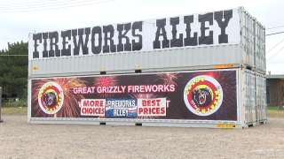Fireworks stand in Great Falls