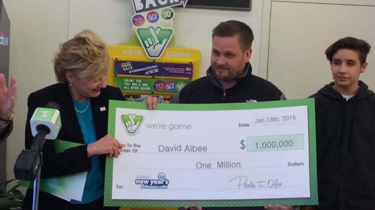 Norfolk man claims $1 million prize from Virginia Lottery's New Year's MillionaireRaffle