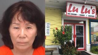 Florida woman accused of urinating in ice cream machine