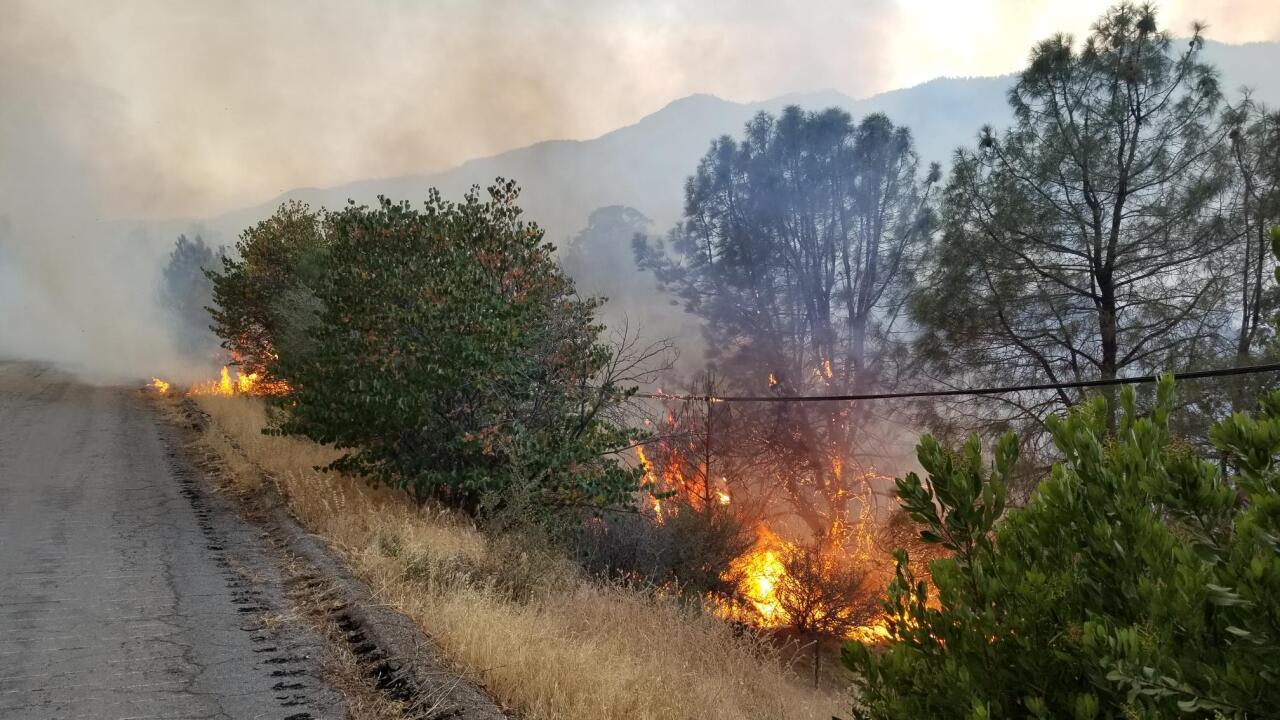 Kern County Fire Department is battling the Stagecoach Fire near Havilah