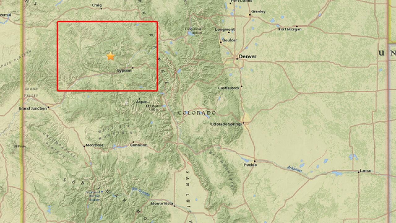 Magnitude 2.7 earthquake recorded in the Colorado mountains overnight
