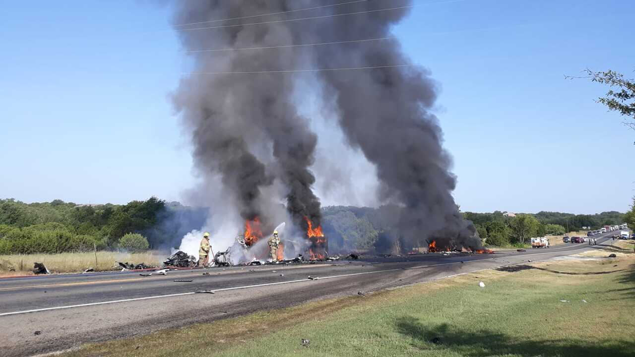 Two dead after 3 semi-trucks collide on US 281 north of Hico