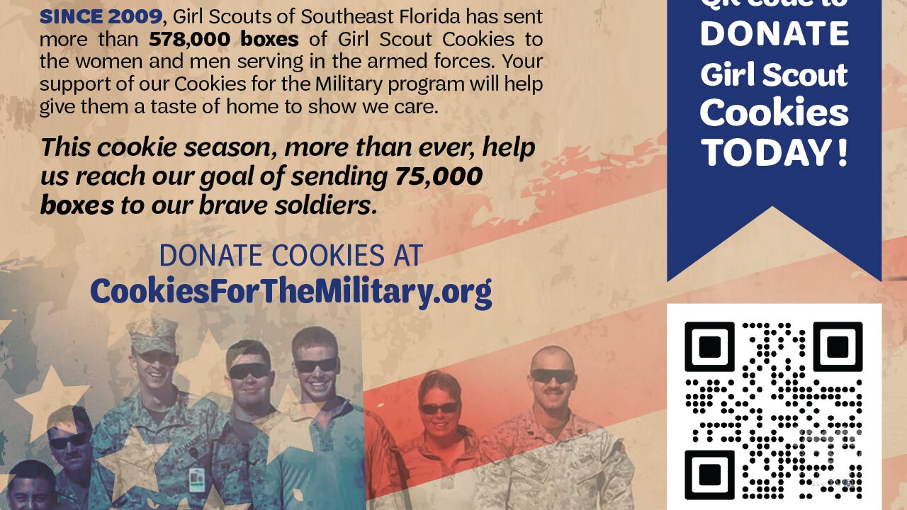 Donate Girl Scout Cookies to the military.