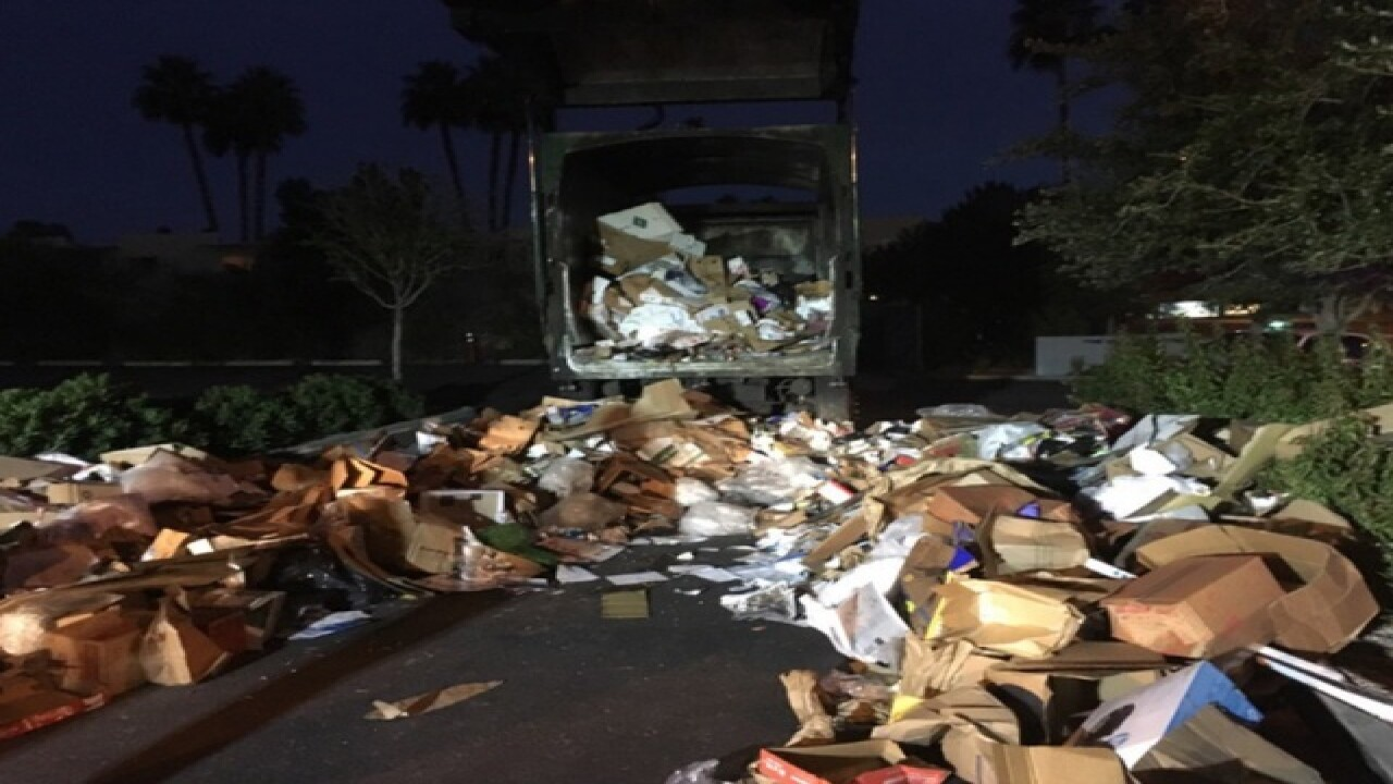 FD: Man was stuck in garbage truck for 10 miles