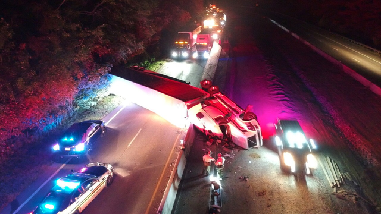I-40 East Reopens In Dickson Co. After Semi Crash