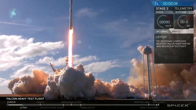 PHOTOS: SpaceX launches Falcon Heavy rocket on test flight with Tesla on board